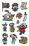 AVERY Zweckform 53197 Kinder Papier-Sticker Piraten 39 Aufkleber (für Jungen, Mitgebsel, Gastgeschenk, Piraten Kindergeburtstag, Schatzsuche, Belohnung, zum Spielen, Sammeln, Basteln, Verschenken)