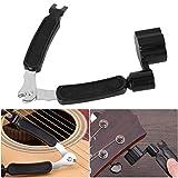 Bnineteenteam Kit de Herramientas de Mantenimiento de reparación de Guitarra, Conjunto Completo Kit de Cuidado de Guitarra para músicos 3 en 1 Cuerda enrolladora Regla niveladora (Herramienta)