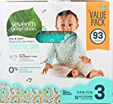 SEVENTH GENERATION Diapers Size 3 Value Pack, 93 CT