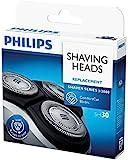Philips SH30 - Testine di ricambio per rasoio, per serie 1000-2000-3000, ricambio originale OEM, confezione da 3 testine