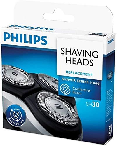 Philips Têtes de rasage de rechange SH30 pour séries 1000-2000 -3000 - Pièce d'origine OEM (lot de 3).
