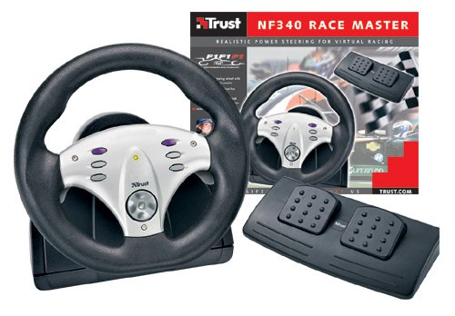 Trust Stuurwiel NF340 Race Master - Volante/mando (PC, USB, 275 x 255 x 320 mm, 2400 g, 4000 g, Pentium 166MMX CPU (also depends on game) USB port 32 MB of system memory)