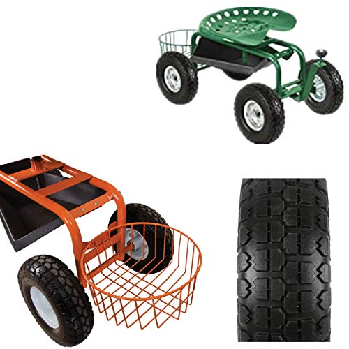 Linksworld Puncture Proof Solid Rubber Tyre Wheels Garden Wagon Cart Trolley Tires Wheels Solid Wheelbarrow Tires Sack Truck Cart Wheel 5/8-inch Bearings for Lawn/Garden/Beach/Trolley/Wagon 2 Pack
