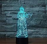 XDOUBAO Bombero Bombero camión acrílico 7 Colores Escritorio lámpara lámpara 3D Novedad Noche luz-Rosa