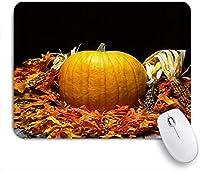 PATINISAマウスパッド 感謝祭のトウモロコシのカボチャのカエデの葉 ゲーミング オフィス おしゃれ 防水 耐久性が良い 滑り止めゴム底 ゲーミングなど適用 マウス 用ノートブックコンピュータマウスマット