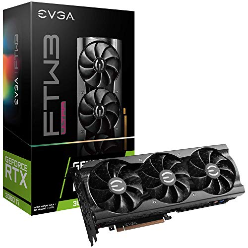 EVGA GeForce RTX 3060 Ti FTW Ultra Gaming, 08G-P5-3667-KL, 8GB GDDR6, iCX3 Cooling, ARGB LED, LHR