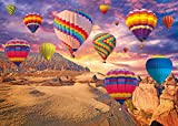 Lunriwis Puzzle de 1000 Piezas para Adultos, DIY Rompecabezas de Globos aerostáticos del Desierto,Intelectual Educativo Divertido Juego Familiar Puzzle, Juguete Regalo para Niños Adultos