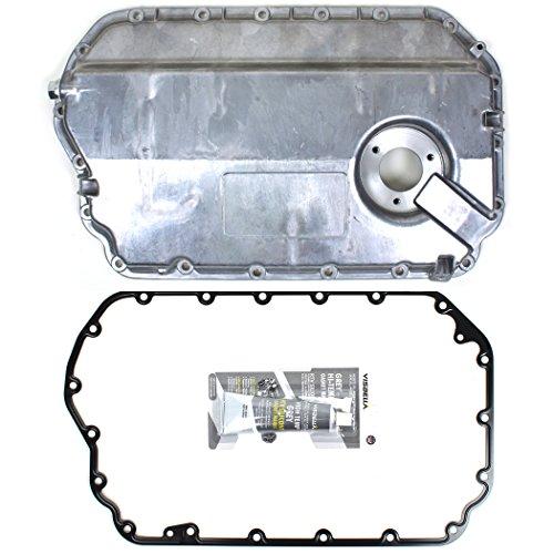 ENGINE OIL PAN W/GASKET (W/OIL LEVEL SENSOR HOLE) COMPATIBLE WITH 98-05 AUDI A4 A6 ALLROAD S4 / VW PASSAT 2.7L DOHC V6 TURBO / 2.8L DOHC V6