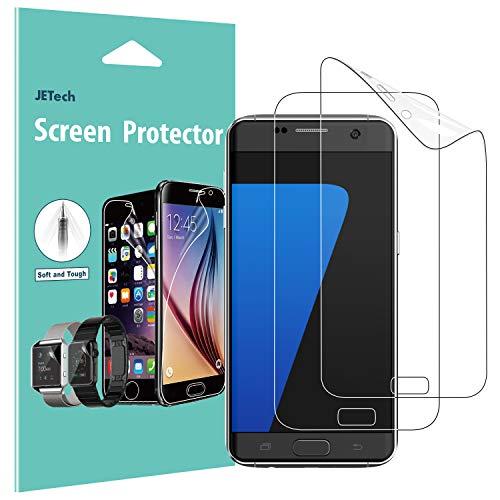 JETech Protector de Pantalla para Samsung Galaxy S7, Cobertura Complete, Ultra Transpanrente, 2 Unidades