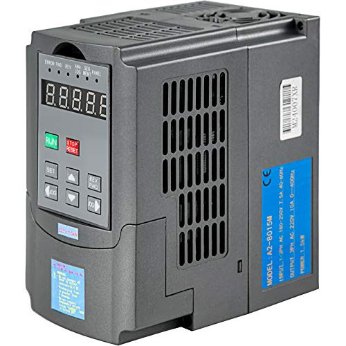 VEVOR Variador de Frecuencia 1.5KW 7A 220-250V Convertidor de Frecuencia Variable Ajustable Convertidor de Frecuencia VFD 2HP