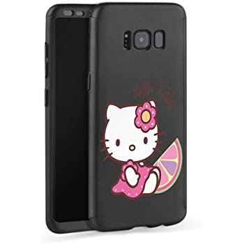 GSPSTORE iPhone 7 Plus//iPhone 8 Plus Case,Hello Kitty 360 Full Body Protection Slim Case with Tempered Glass Screen Protector Sling and Ring Holder for Apple iPhone 7 Plus//iPhone 8 Plus #08