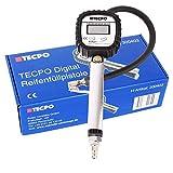 TECPO Digitaler Druckluft Reifenfüller Messgerät 0-10 Bar Reifenfüllgerät 0-150 PSI, 0-1000 kpa...