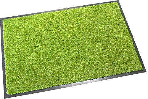 Hochwertige Fußmatte (Grün / 60x40 cm) waschbare Schmutzfangmatte - Höhe 8 mm - mit guter Wirkung gegen Nässe und Schmutz (bis zu 4L Wasser/m2)