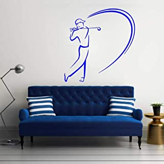 zrisic Wall Stickers Golf Vinyl Wall Decal Removable Livingroom Bedroom Home House Decoration Wall Paper Window Sport Decor DIY B 35x57cm