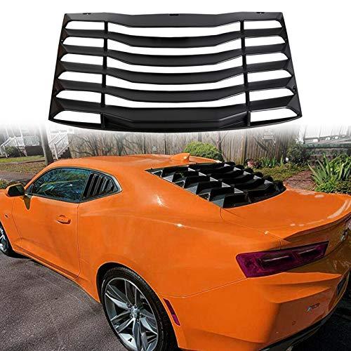 Set for 2016-2019 Chevrolet Camaro Rear Quarter Side Window Louver Glossy Black