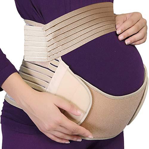 PINPOXE Schwangerschaftsgürtel, Schwangerschaft Stützgürtel, Schwangerschaftsgurt verstellbar, Schwangerschaftsband, Schwangerschaftsbandage, Schwangerschaft Bauchgurt Stützt Taille Rücken und Bauch