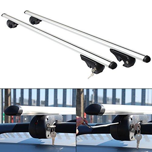 Hardcastle Aluminium Lockable Anti Theft Aero Dynamic Car Roof Bars - 3 Sizes
