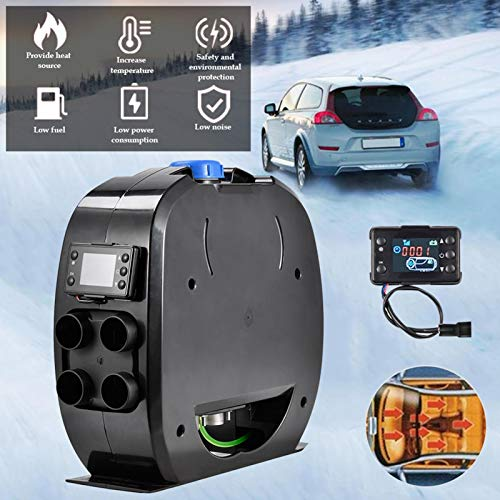 Car Air-Assisted Diesel Heater with Truck Remote Control Car Internal Parking Heater, Low-Noise LCD Car Air Heater, LCD Switch Caravan For Truck Trailer Caravan