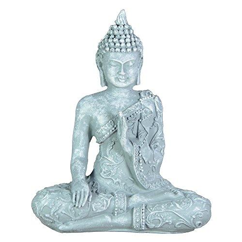 Zen'Light SBM1Buddha-Figur Meditation 1Stein, grau 10x 5x 12cm