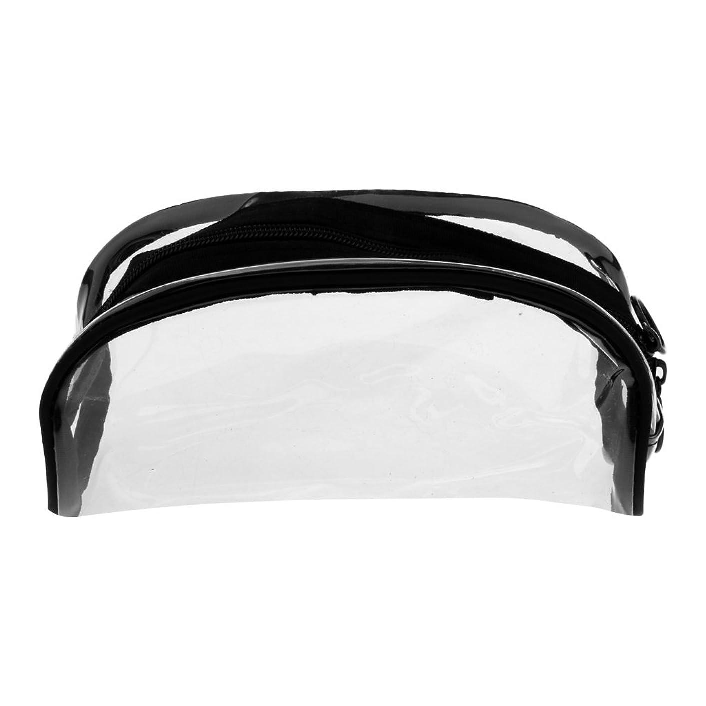 傾向がある男性お金ゴムSharplace メイクバッグ 化粧ポーチ PVC クリア ジッパーバッグ メイクポーチ 透明 全4タイプ - #2