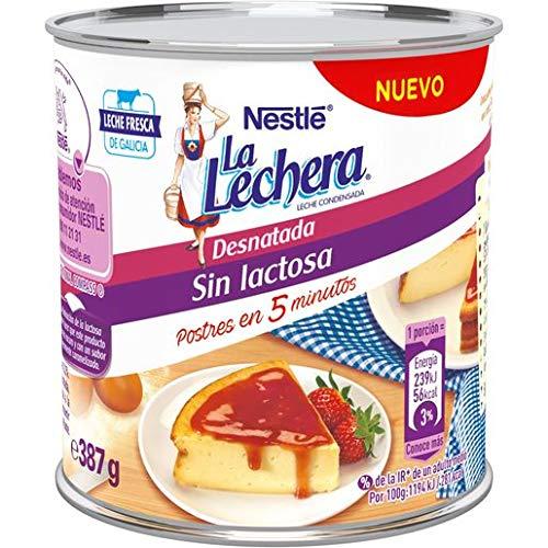 LA LECHERA leche condensada desnatada sin lactosa bote 387 gr