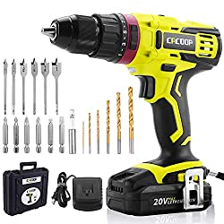 25%OFF CACOOP 20V Electric Cordless Hammer Drill With 2000mA Lithium-Ion Battery