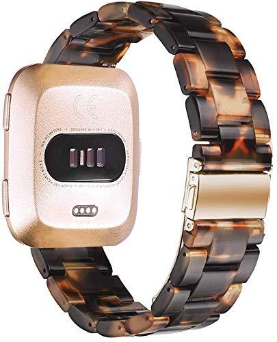 Songsier compatible con Fitbit Versa 2/Versa/Versa Lite y ligero, banda de repuesto de resina perfecta para mujeres y hombres pulseras de pulsera para reloj inteligente Fitbit Versa 2