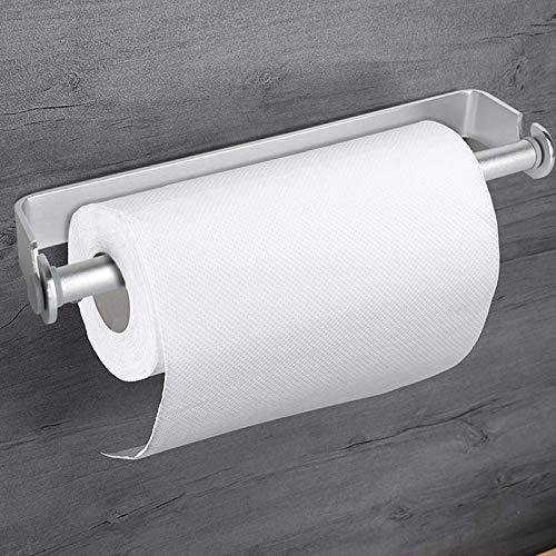 YELLAYBY Rack de Pared Auto-Adhesivo y Papel de Montaje en Pared Titular de Toallas y dispensador, Cocina sostenedor del Soporte de Tissue Toalla Debajo del gabinete-Plata (Color : Silver)