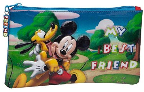 Mickey y sus amigos–Estuche plano de Ecolier Mickey & Pluto My Best Friend