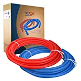 SUPPLY GIANT QYLUSC10012 PEX Potable Water Tubing Combo Non-Barrier Pipe for Residential or Commercial, 1/2'' Inch x 100 Feet (1 Red + 1 Blue)