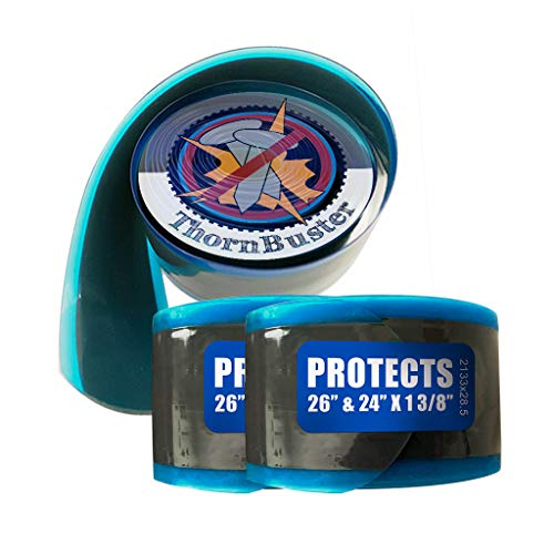 """Thorn Buster, Inner Tube Protecting, Bicycle Tire Liners Pair - Stop Flats for Hybrid Bikes Using Blue 26 x 1 3/8"""" / 24 x 1 3/8"""" / 700c x 25 Bike Tires and Tubes (2 Liners)"""