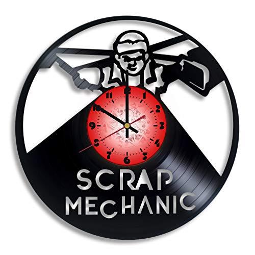Scrap Mechanic Computer Game Logo Handmade Vinyl Record Wall Clock, Scrap Mechanic Kitchen Decor, Scrap Mechanic Gift for him and her