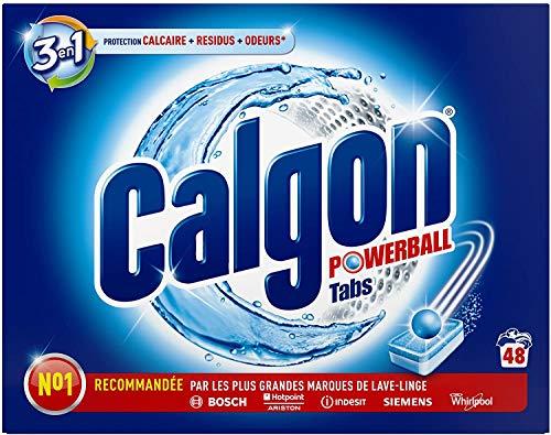 Calgon 3 in 1 Kalkschutz schützt vor Kalk und hält Ihre Waschmaschine sauber – 48 Tabs