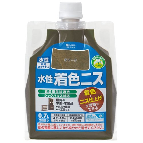 カンペハピオ 水性着色ニス 新オーク 0.7L