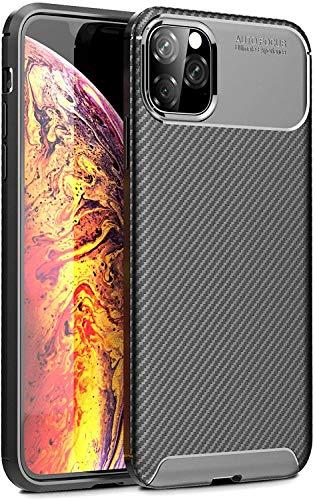 Wephone Accesorios Funda TPU Silicona Carbono Negro Rayado para Apple (iPhone XR)