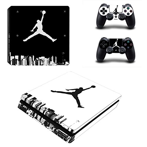 L'Amazo Best Sport Fans American Football Basketball Baseball PS4 S Designer Skin Game Console System p 2 Controller Decal Vinyl Protective Covers Stickers for Playstation 4 Slim (4. Air Street)