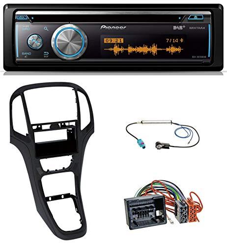 caraudio24 Pioneer DEH-X8700DAB MP3 DAB USB CD Bluetooth Autoradio für Opel Astra J ab 2009 Perl schwarz