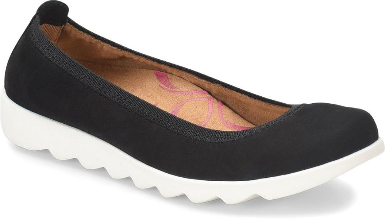 Comfortiva Womens Grace Closed Toe Slide Flats, Black, Size 10.0