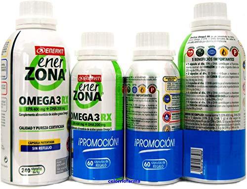 Enerzona Omega 3RX1gr  EPA 400 mg+DHA 200 mg  240capsulas + Regalo 60capsulas.- PACK 2UN