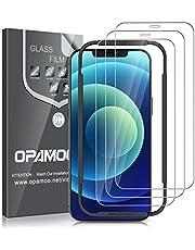 opamoo [3-Stuks] Screen Protector voor iPhone 12 mini (5,4''),Screenprotector voor iPhone 12 mini Volledige Scherm met Uitlijning Frame Geen Bubbels 9H Hardheid Anti-kras Beschermglas iPhone 12 mini