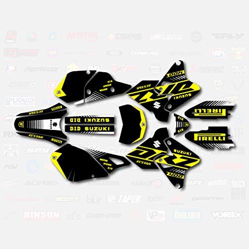 Black Yellow Rise Racing Graphic Kit fits Suzuki Drz400 Drz 400 Drz400sm 400sm