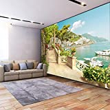 3D Wallpaper Custom Large Non Woven Mural Decoration Garden Balcony Stairs Lake View-350245Cm Modern Wall Mural Landscape Picture Decor