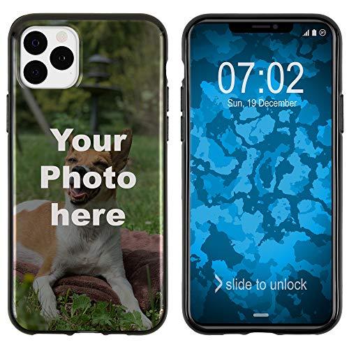 PhoneNatic Case kompatibel mit iPhone 11 Pro Max Personalisierte Handyhülle schwarz zum selbst gestalten mit eigenem Foto