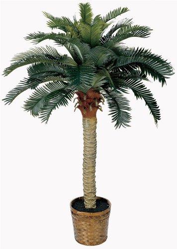 Nearly Natural 5043 4ft. Sago Silk Palm Tree,Green,36x36x48