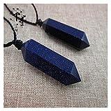 PINPINGMY Cristal Natural Rugoso 2PCS Árbol Azul Natural Azul Cristal Colgante Colgante Arena pilares de Piedra