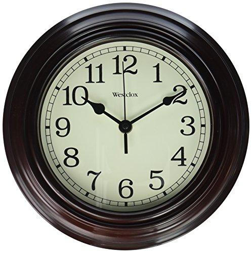Westclox 33883P Wall Clock, Brown