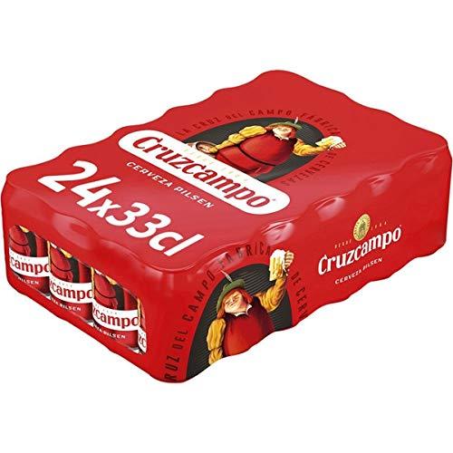 Bier Cruzcampo Pilsen 24x33cl (Pack 24 Dosen)