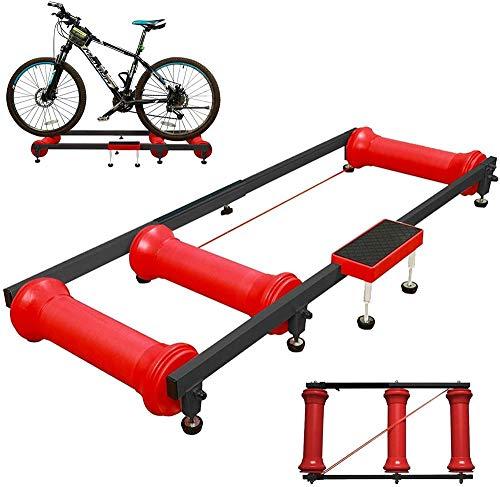Plataforma de entrenamiento de bicicleta, Ciclismo Stand Trainers MTB Road Bike Ejercicio de montar a caballo, Ajustable Fitness Bicicleta Parabolic Roller Frame