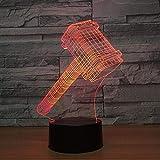 Lampe Illusion 3D LED veilleuse avec forme de marteau Thor 7 couleurs comme décorations pour la maison décoration de la maison personnalité lampe de sommeil