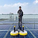 YNWUJIN Außenreinigungswerkzeuge Fensterreiniger, Elektrische Solar-Photovoltaik-Panel-Tool, Spezielle Dachwasserbürste, Teleskopbürste Wasser Für Wohnwagen-Truckwäsche,5M,Stecker